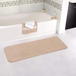 BathroomRunnerRugsZARCKER Non-Slip LargeBathroom Mats Thick Shaggy Bath Rugs Machine Washable for Bathroom Decor Tub Shower Bathroom Vanity Floor Accessories - 20