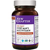 New Chapter Men's Multivitamin + Immune Support – Every Man's One Daily with Fermented Nutrients - 48 ct