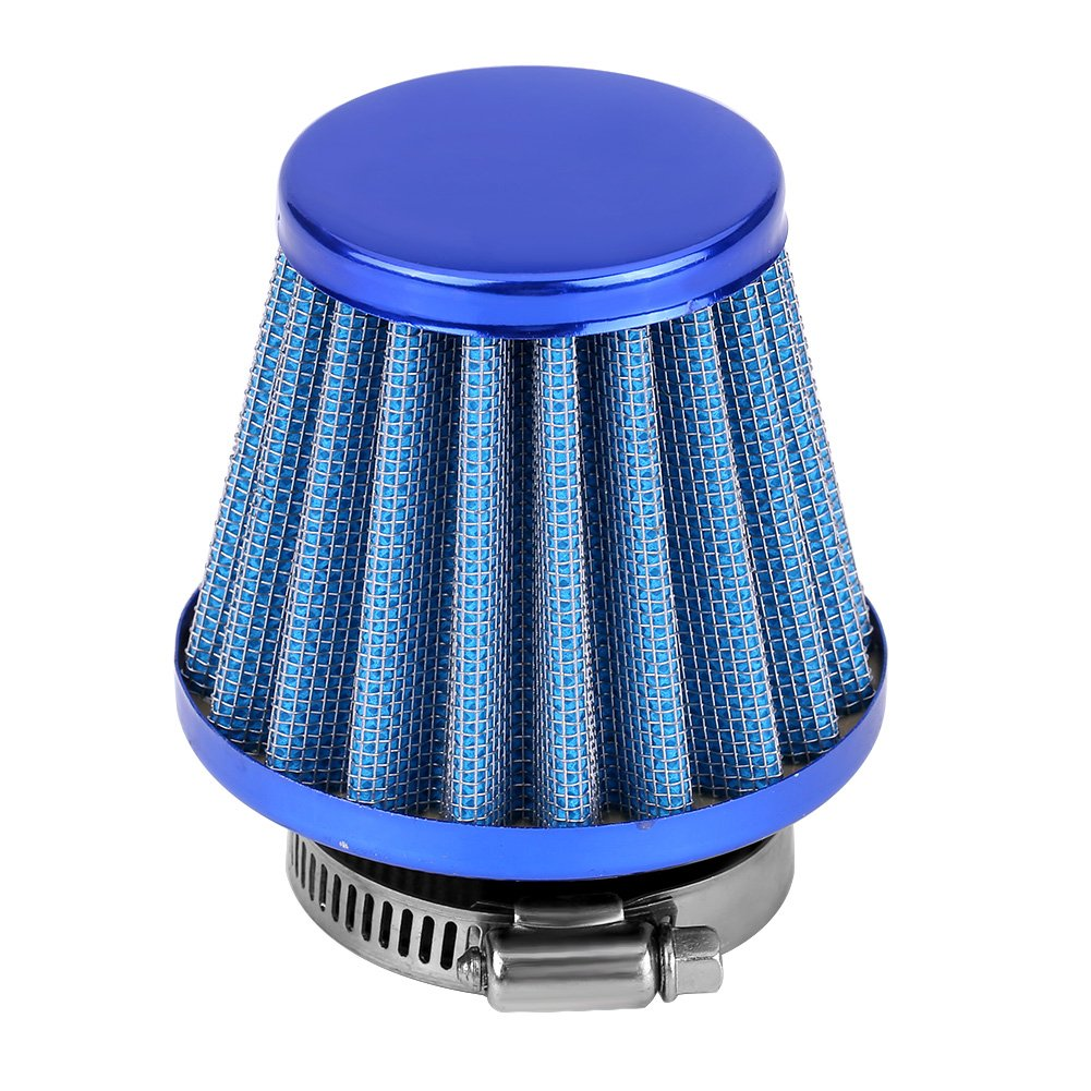 38mm Motorcycle Clamp-On Air Intake Filter Kit Red Universal Auto Cold Air Intake Scooter Atv Dirt Pit Bike Air Filter HIgh Flow