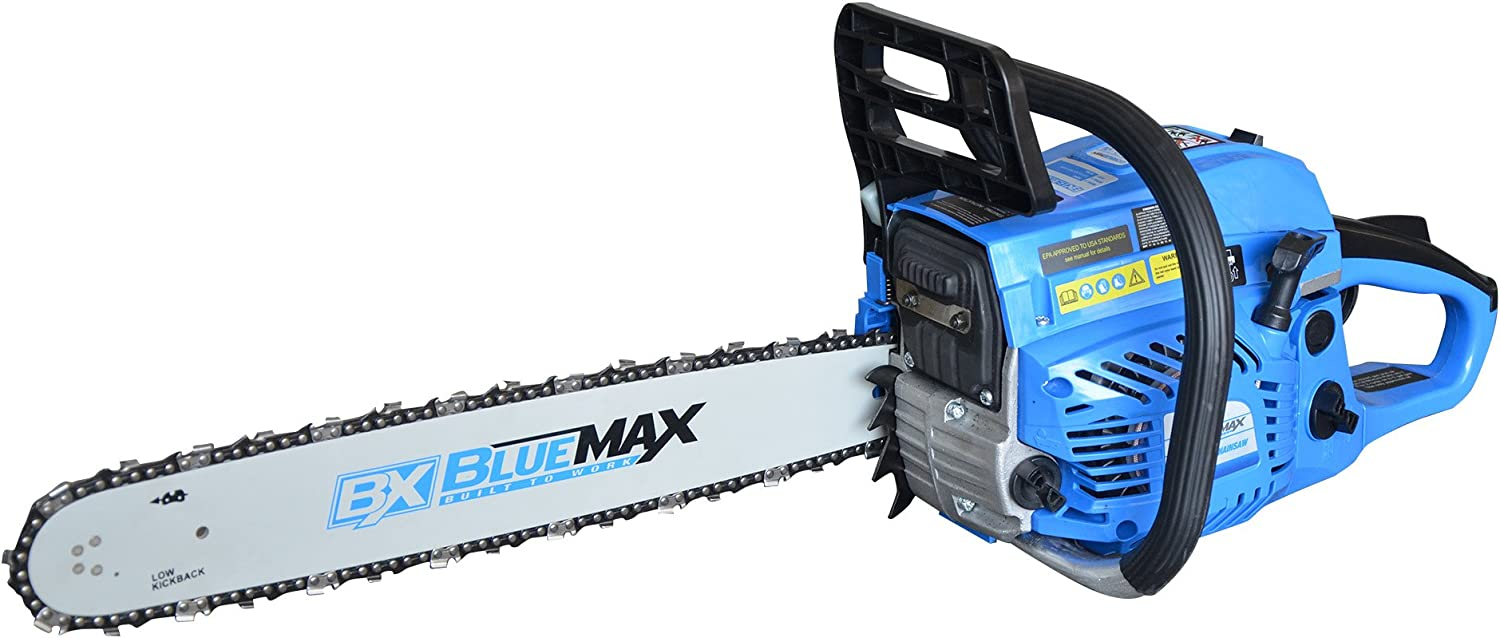 Blue Max Gas Chainsaw 52cc, Blue, 20""