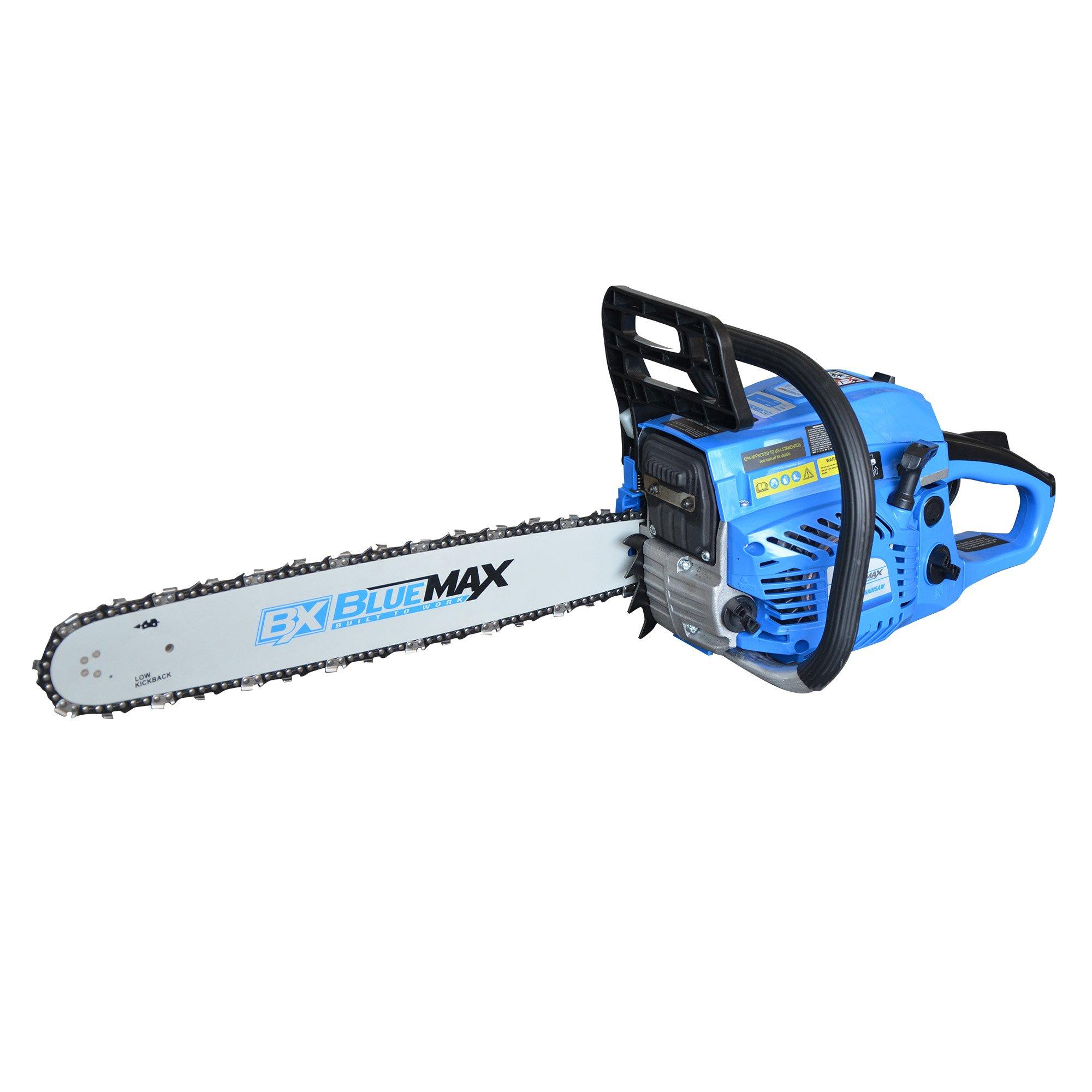 Blue Max Gas Chainsaw 52cc, Blue, 20''