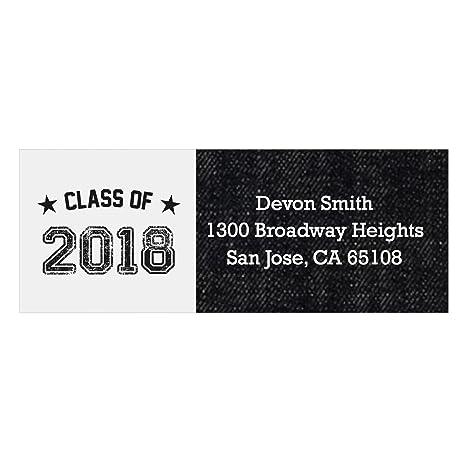 custom all star grad personalized 2018 graduation party return address labels set of 30