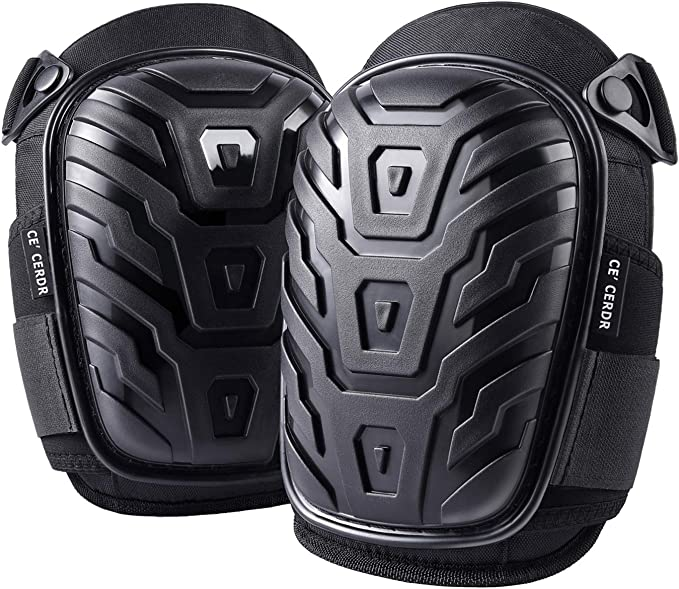 Professional Knee Pads for Work - Heavy Duty Foam Padding Kneepads for Construction, Gardening, Flooring with Comfortable Gel Cushion to Save Your Knees (Knee High) - - Amazon.com