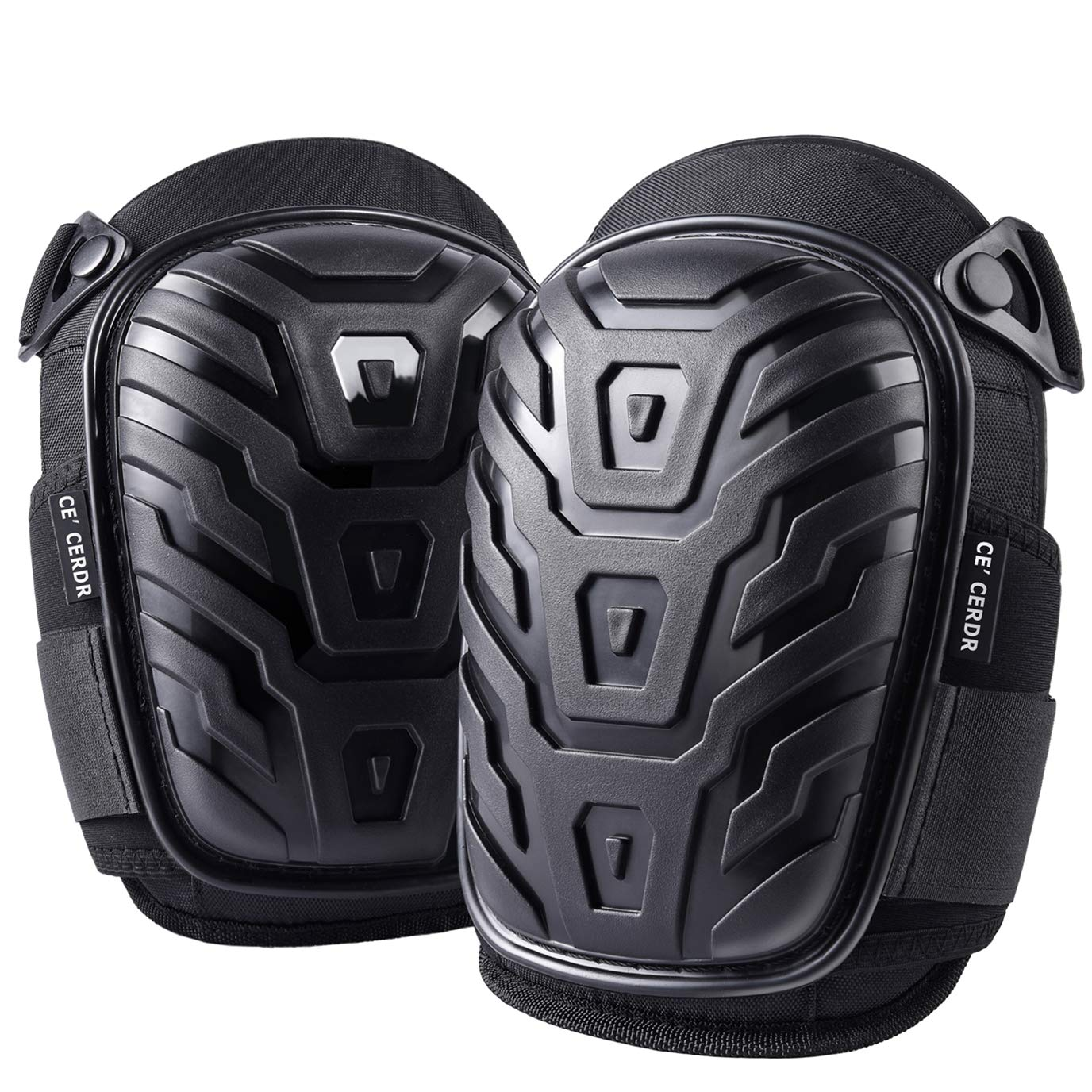 Professional Knee Pads for Work - Heavy Duty Foam Padding Kneepads for Construction, Gardening, Flooring with Comfortable Gel Cushion to Save Your Knees by CE' CERDR