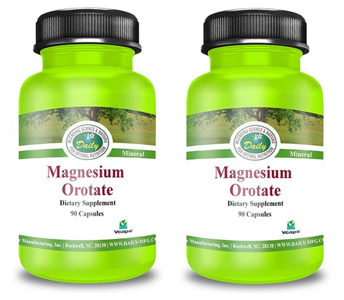 Daily Manufacturing Magnesium Orotate 50 mg 90 Capsules (2)