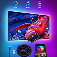 LED TV-achtergrondverlichting,USB bluetooth 4.5M LED Strip Lights Romwish RGB SMD 5050 TV-verlichtingsstriplicht,LED TV…