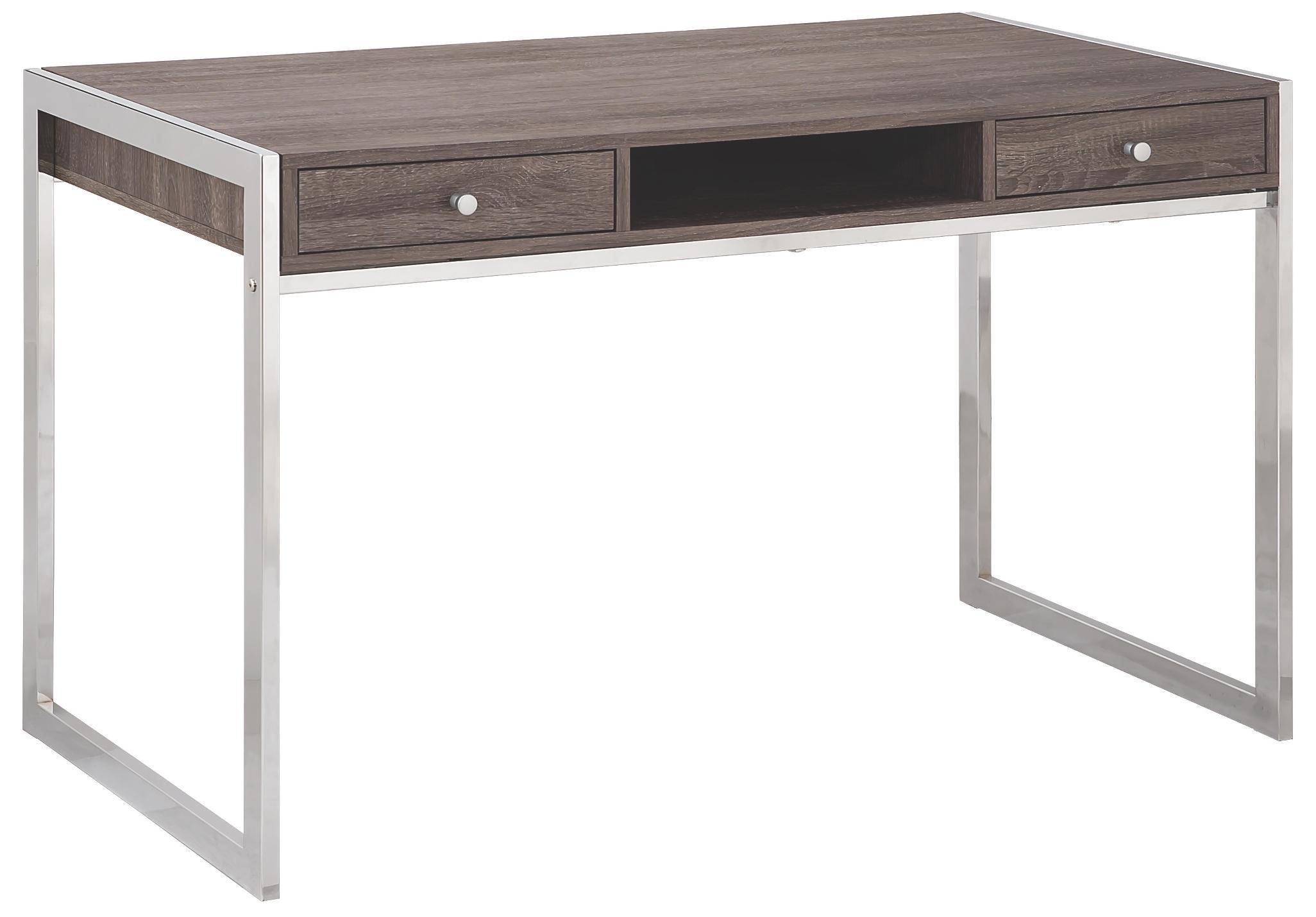 Coaster 801221 Home Furnishings Desk, Weathered Grey/Chrome