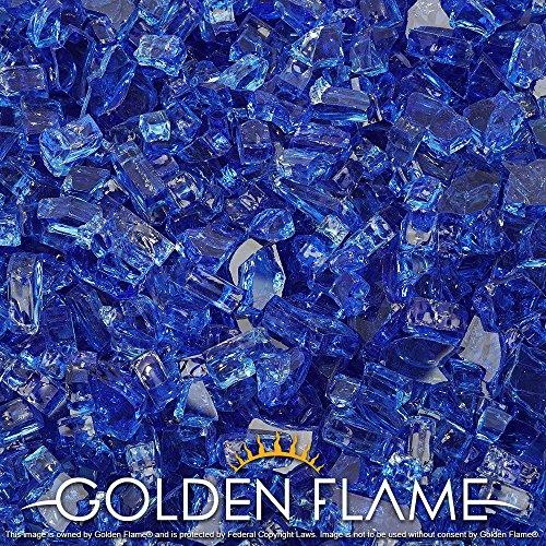 Flame Glass Fireplace (Golden Flame® 10-Pound ** Fire Glass ** 1/4-Inch Cobalt Blue)