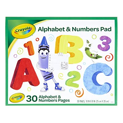 Crayola Alphabet Pad, Tracing Worksheets, 30 Pages: Toys & Games