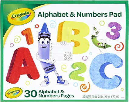 Amazon.com: Crayola Alphabet Pad, Tracing Worksheets, 30 Pages, White, 10 X  8 Inches: Toys & Games