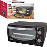 Quest 35400 Mini Oven, 9 Litre, Black [Energy Class A], 1000 W, 9 liters