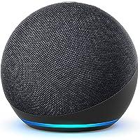 Nya Echo Dot (4:e generationen) Internationell version   Smart högtalare med Alexa   Grafitgrå   Svenskt språk ej…