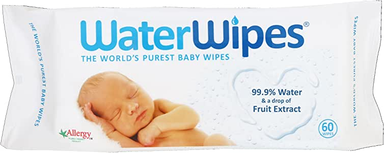 WaterWipes Fragrance Free & Eczema Friendly Purest Newborn Baby Wipes Discovery Pack (60 Wipes)