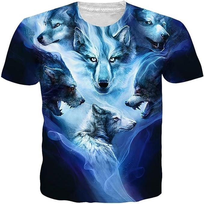 AAICO Men Blue Printed T-Shirt