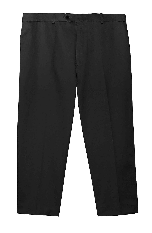 Jonathan Quale Big & Tall Flex Waist PLEATED Casual Pant - BLACK