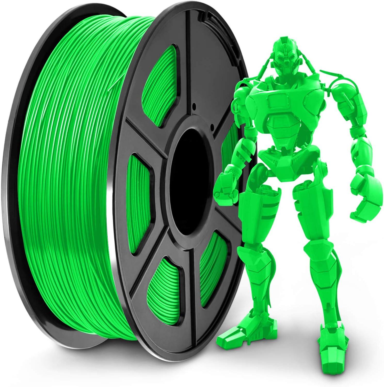 SUNLU PLA+ Filament 1.75mm for 3D Printer & 3D Pens, 1KG (2.2LBS) PLA+ 3D Printer Filament Tolerance Accuracy +/- 0.02 mm, Green