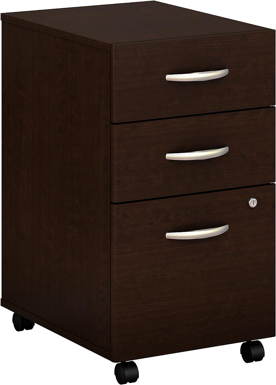 Bush Business Furniture Series C Elite 3 Drawer Mobile File Cabinet in Mocha Cherry