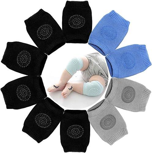 Hocaies Knieschoner Baby Krabbeln 5 Paar Elastische Krabbelhilfe f/ür Babys mit Gummipunkte Anti-Rutsch f/ür 6-36 Monate Unisex.