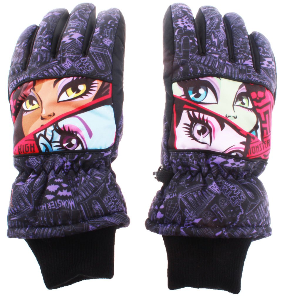 Skihandschuhe Kinder Mädchen Monster High schwarz/violett 11/12ans