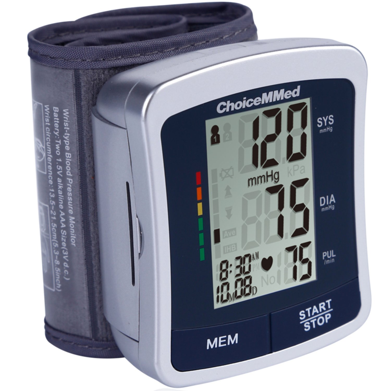 CHOICEMMED Wrist Blood Pressure Monitor - BP Cuff Meter with Display - Blood Pressure Machine up 5.3''-8.5'' Wrists - Blood Pressure Tester Kit with Case - Blood Pressure Gauge with Memory