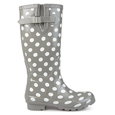 Amazon Brinley Co Womens Mizzle Rubber Patterned Rain Boots Adorable Patterned Rain Boots