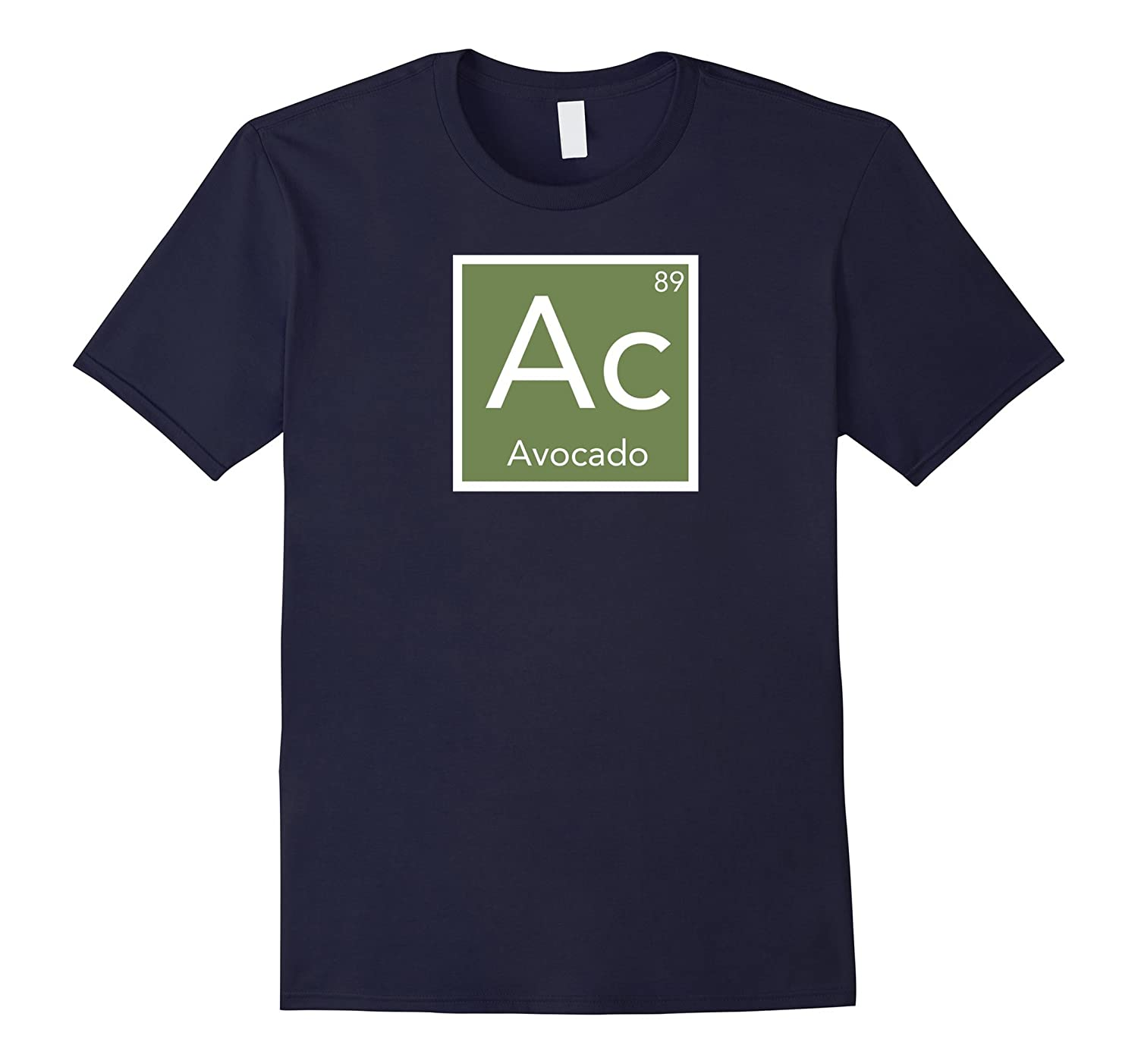 Ac Avocado Periodic Table Style Graphic T Shirt