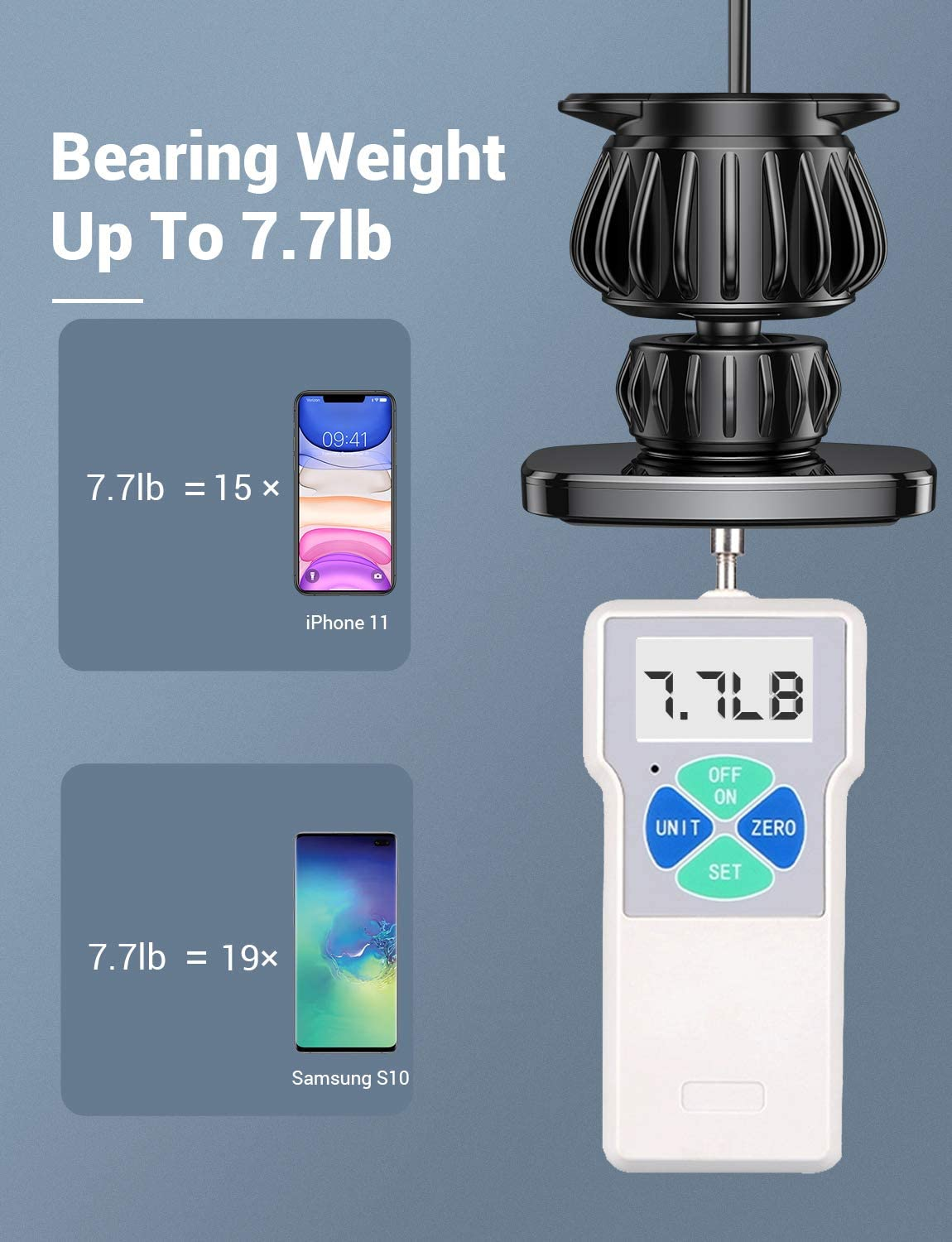 ZSDN Cell Phone Holder Car Phone Mount Car Phone Holder Car Universal Silicone Anti-Slip Phone GPS Holder Mobile Phone Stand