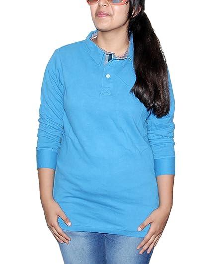 3bcae425698 Mask Lifestyle Women s Peacock Blue Cotton Buttoned Shirt Size - XL ...