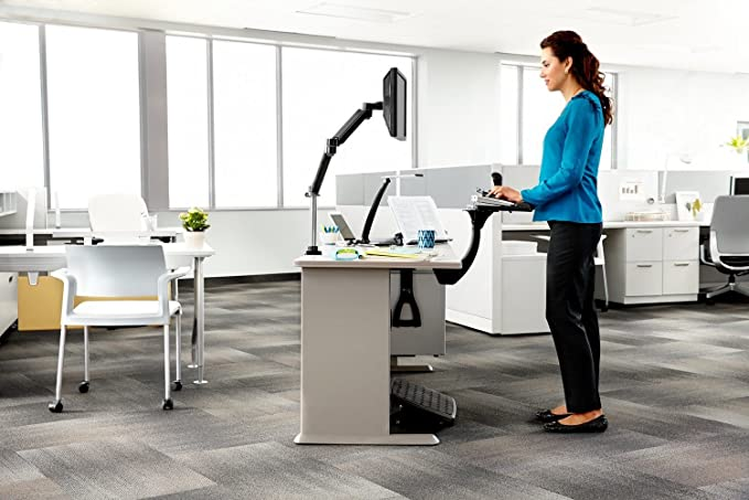 3m Easy Adjust Sit Stand Keyboard Tray With Adjustable Platform 23 Inch Track Antimicrobial Gel Wrist Rests Akt180le Office Keyboard Platforms Office Products Amazon Com