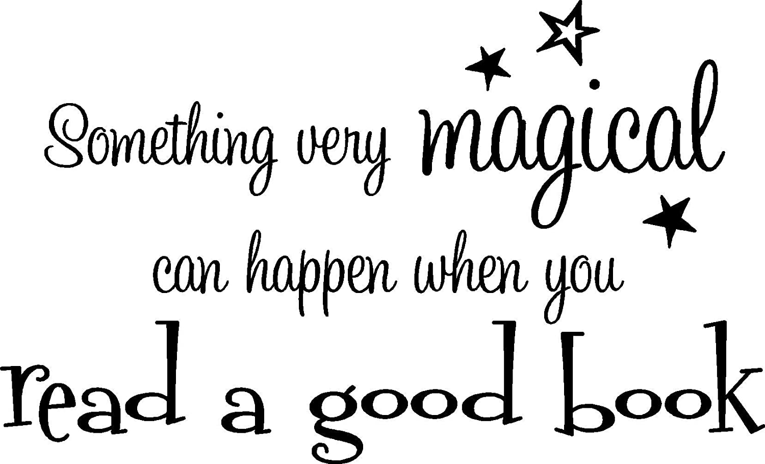 Something Very Magical can Happen When You Read a Good Book playroom Sticker Nursery Vinyl Saying Lettering Wall Art Inspirational Sign Wall Quote Decor