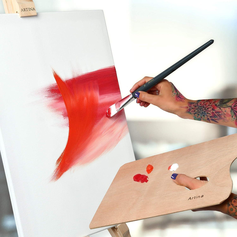 Ch/âssis entoil/é Appr/êt/ée 2 Fois Lot de 10-20x20cm 280g//m/² Toile /à Peindre Akademie Artina