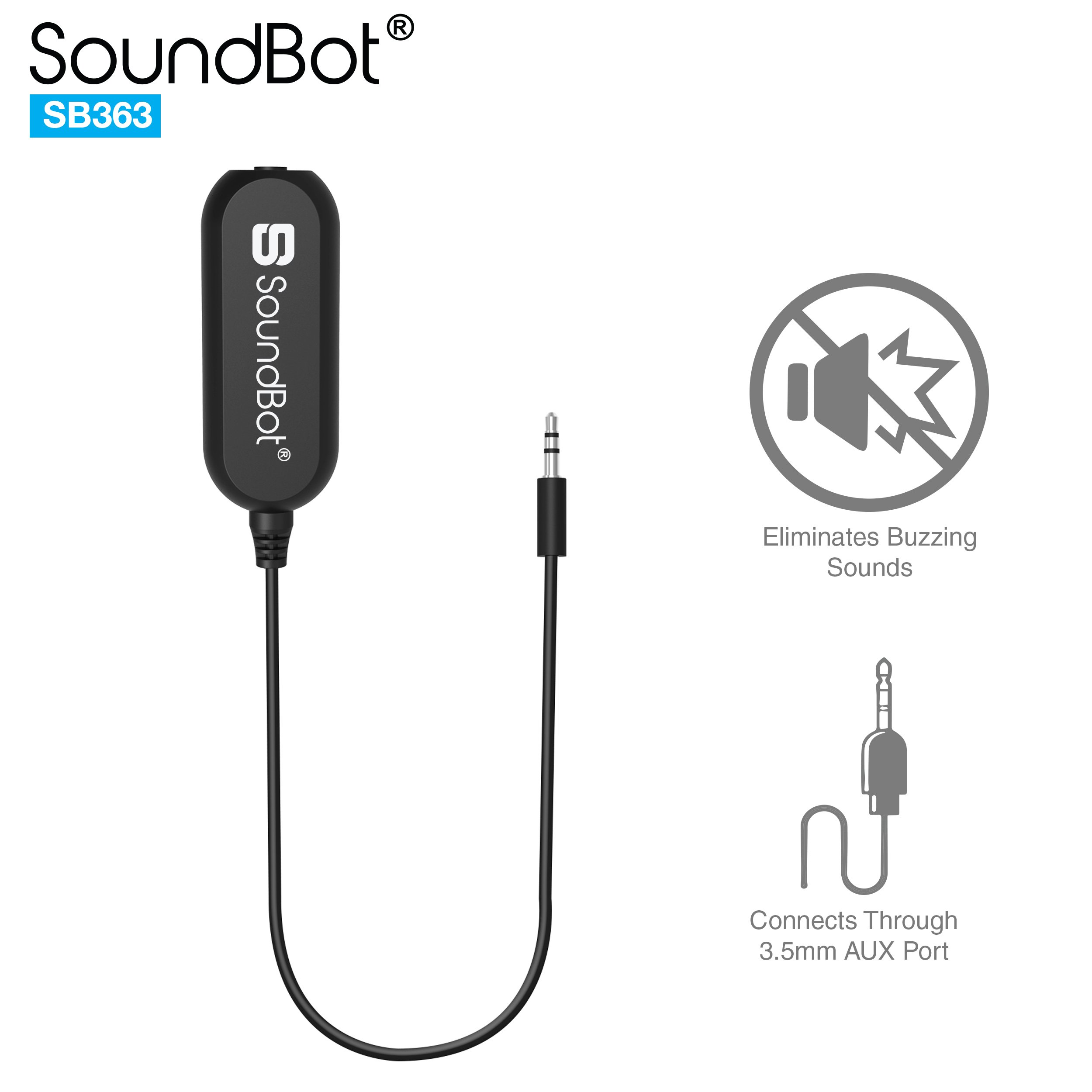 Black Extended 3.5mm Audio Cable 3.3Feet Mpow Ground Loop Noise Isolator for Car Audio and Home Stereo System with 1 Meter