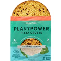 Outer Aisle Gourmet Cauliflower Pizza Crusts - Low Carb, Gluten Free, Paleo Friendly, Keto (Jalapeno, 8 Crusts)