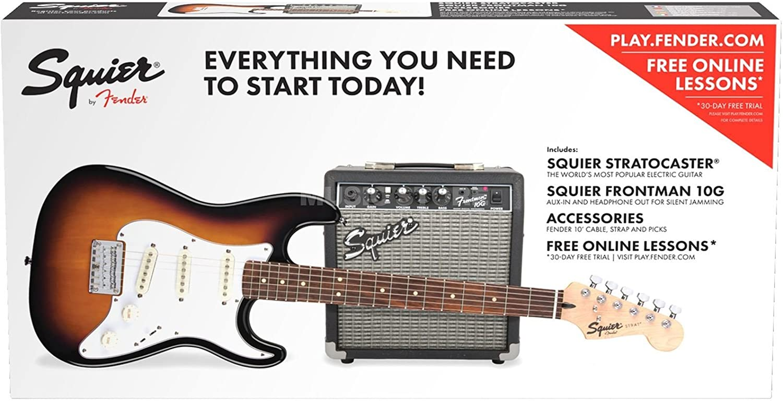 Fender Squier Pack Stratocaster SS sq10g BSB: Amazon.es: Instrumentos musicales