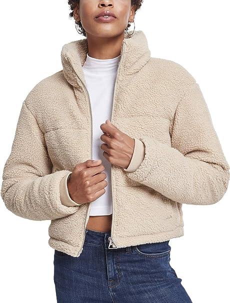 Urban Classics Ladies Boxy Sherpa Puffer Jacket Giacca Donna