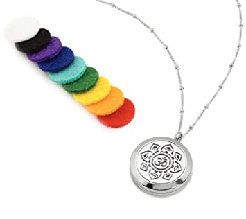 Amazoncom Om Aum Essential Oil Diffuser Necklace Aromatherapy