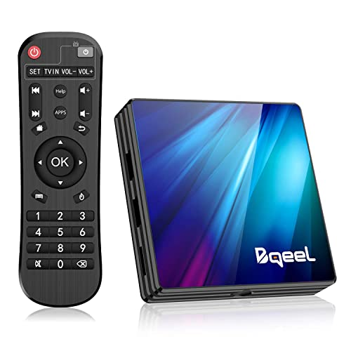 Bqeel Última 9 0 TV Box 4GB RAM 64GB ROM Android TV Box RK3318 Quad Core 64bit Cortex A53 Soporte 2k 4K WiFi 2 4G 5G BT 4 0 USB 3 0 Smart TV Box