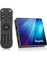 Bqeel Android 9.0 TV Box R1 PLUS, 4GB RAM+64GB ROM / CPU RK3318 Quad-Core 64bit /Dual WIFI 2.4/5G + 100M LAN, TV box android AV/Dolby H.265 3D 4K UHD Smart TV box