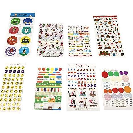 54 hojas Pegatinas para calendario Etiqueta engomada del diario Emoji pegatinas para DIY Decoración de Ornamento de Foto Abulm Scrapbooking Cuaderno ...