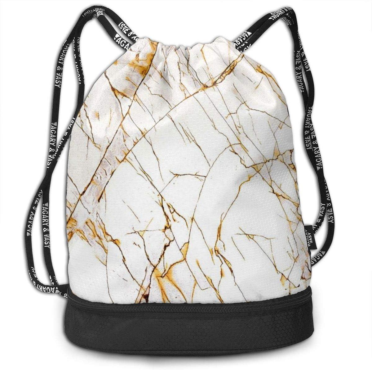 GymSack Drawstring Bag Sackpack Marble Pattern Sport Cinch Pack Simple Bundle Pocke Backpack For Men Women
