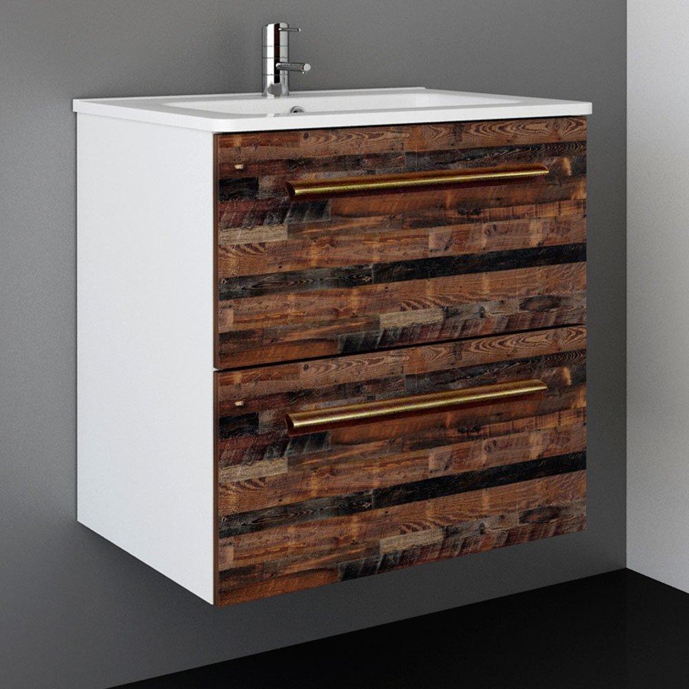 Randalco 24'' Maine Modern Bathroom Vanity Cabinet Set | 24 x 24 x 18 Inch Vanity Cabinet + Ceramic Top + Mirror | Cognac Wood Looking Finish by Randalco (Image #3)