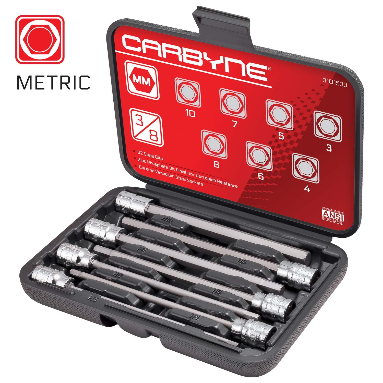 Chrome Molybdenum Steel Carbyne 1//2-Inch Drive 38 mm Deep Impact Socket 6-Point