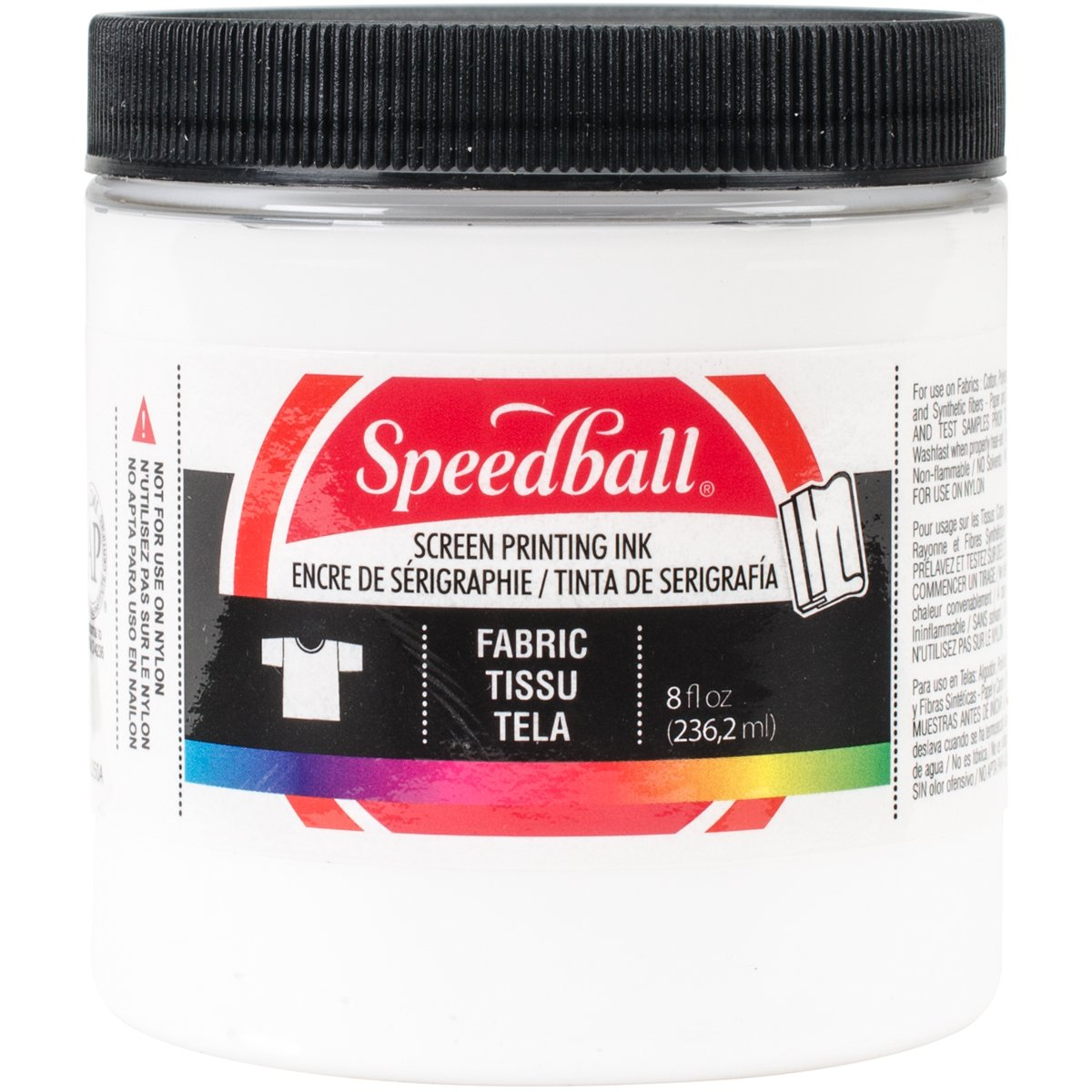 Speedball Fabric Screen Printing Ink, 8-Ounce, White