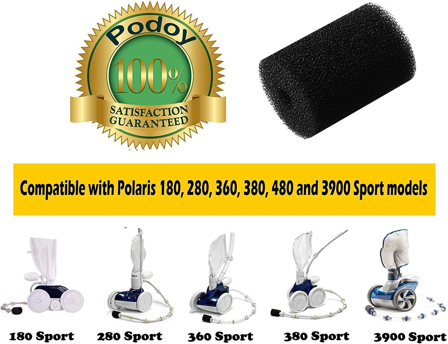 Lavador de Colas de Esponja para Polaris Limpiafondos Piscina 180 ...