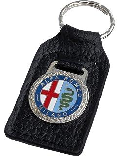 Amazon.com: Triple-C Mercedes Leather and Enamel Key Ring ...