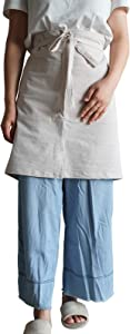 Cotton Aprons,Waist Apron with Pockets-Mens and Womens for Home Cooking,Waiters,Crafts,Garden,Coffee/Comfortable (34Wx20L, Beige)
