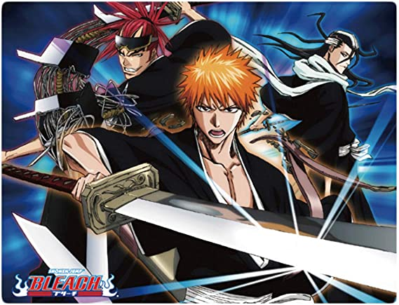 **Legit** Bleach Ichigo Rukia Byakuya Group Authentic Anime Throw Blanket #57734