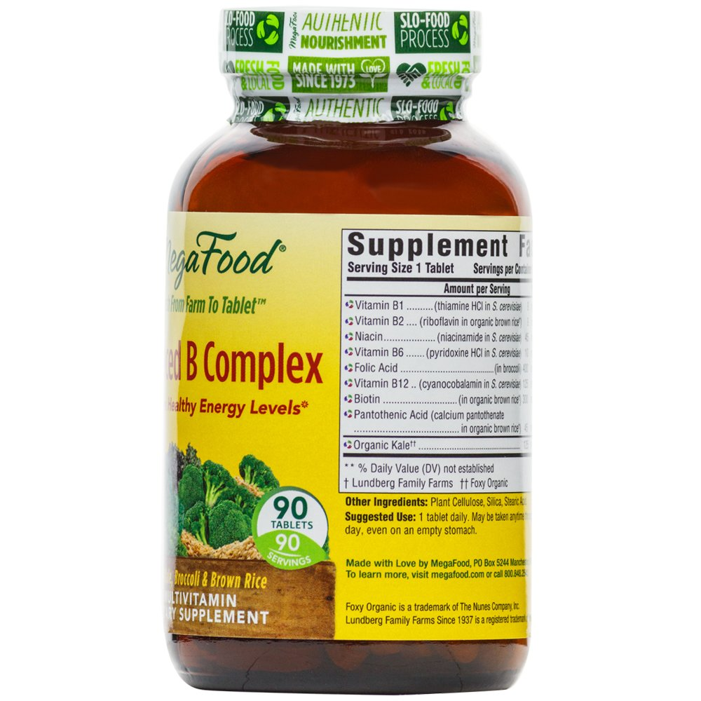 Amazon.com: MegaFood - Balanced B Complex, Promotes Energy & Health of the Nervous System, 90 Tablets: Health & Personal Care