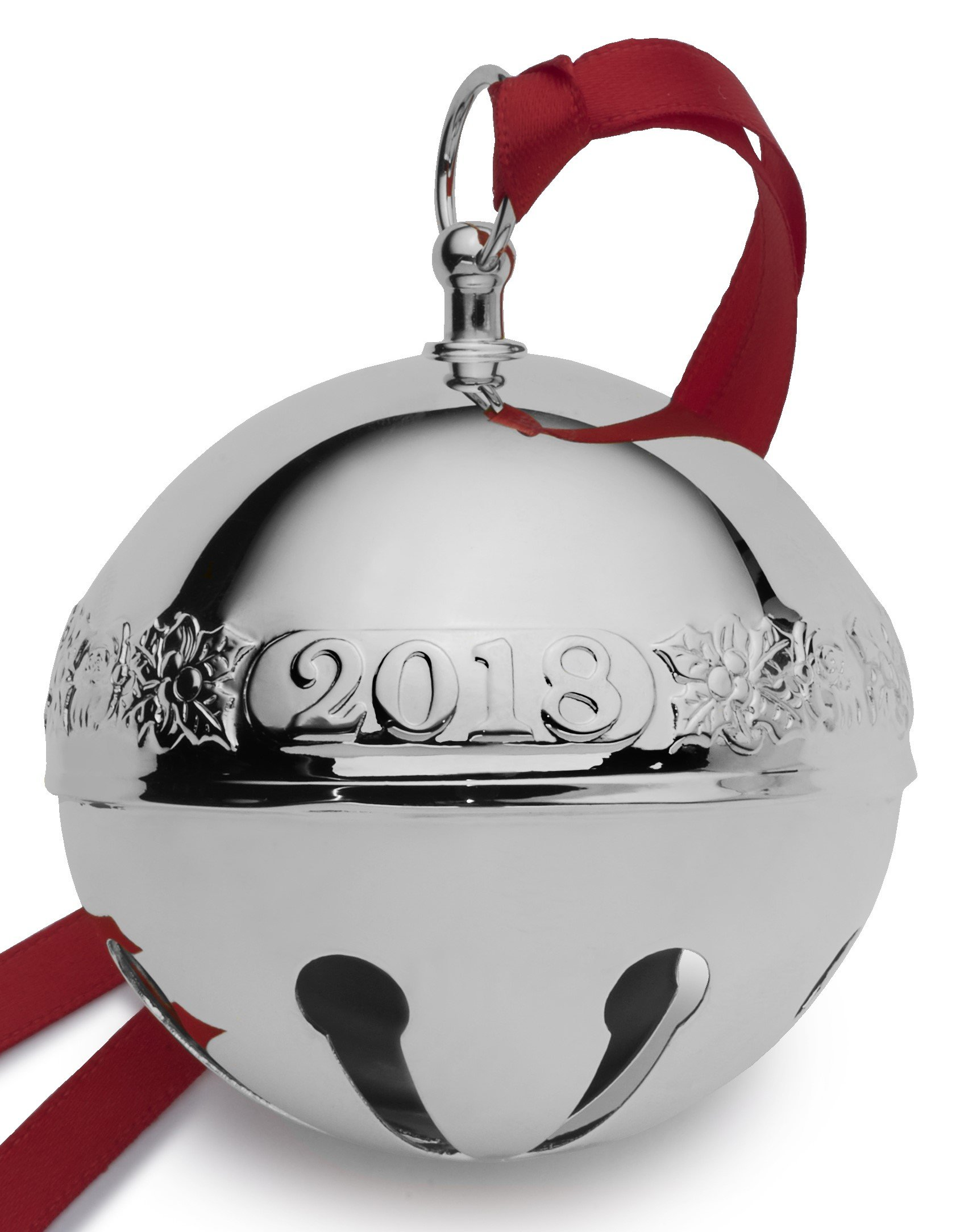Wallace 2018 Sleigh Bell Plated Christmas Holiday Ornament, 48th Edition, Silver