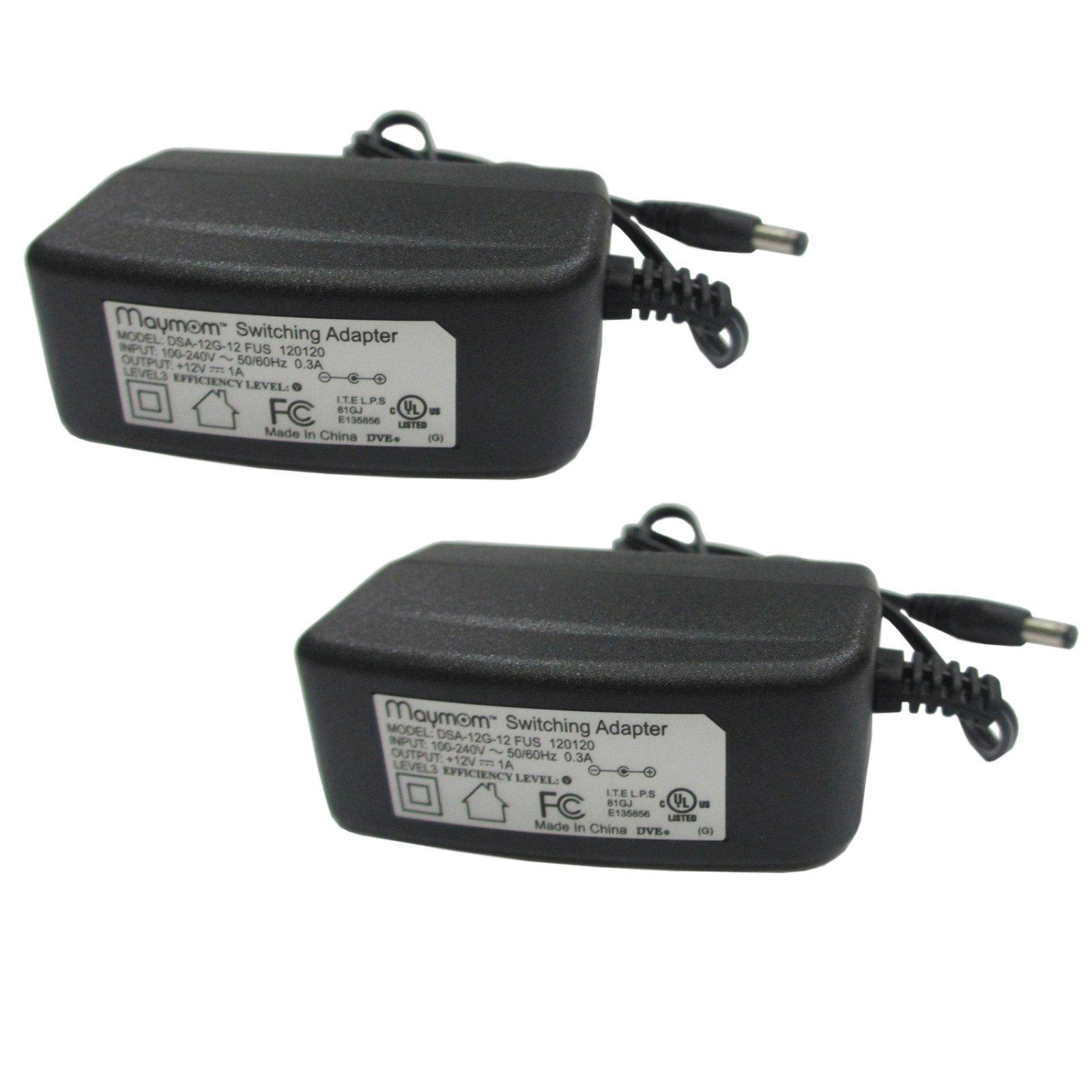 Maymom Powersupply AC Adapter For Medela 12V Electric Breastpumps, Set of 2